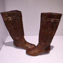 Steven by Steve Madden Intyce Women's Tan Leather Boot 6m Msrp 126 B238f Photo