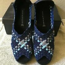 Steven by Steve Madden Ladies Braavo Wedge Slip-on Navy Multi Sz 8 - New in Box Photo