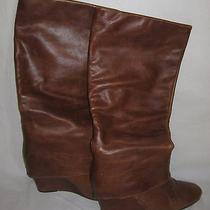 Steven by Steve Madden Maryn Cognac Leather Knee-High Boots Women's Size 11  Photo