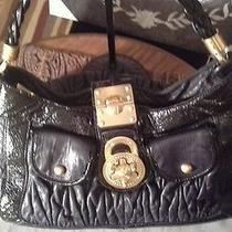 Steven by Steve Madden Rare Handbag Padlocks Bolts & Zippers Oh My Rare Photo