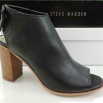 Steven by Steve Madden Slater Open Toe Heels Sandals Booties Black Size 5.5 Photo