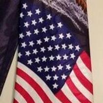 Steven Harris American Flag Eagle Patriotic Novelty Necktie Tie 57 X 3-3/4 Photo