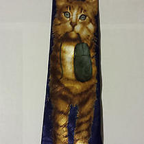 Steven Harris Cat and (Computer) Mouse Tie - Handmade Men's Novelty Geek Blue Photo