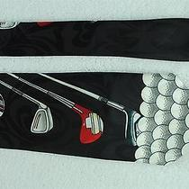 Steven Harris Hand Made Golf Sport Club Red Black Shiny Nice Mens Neck Tie  Photo