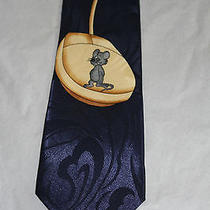 Steven Harris Hand Made Mens Tie Blue Computer Mouse Cord Photo