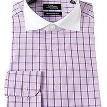Steven Land Purple Checkered Modern Fit Mens Dress Shirt Dc14c Photo