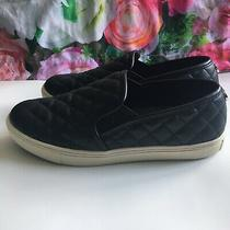 Steven Madden Black Quilted Slip on Sneakers Size 8 Photo