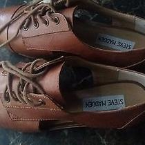 Steven Madden Brian Leather Camel Flats  Size 6.5 Brand New Photo