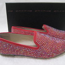 Steven Madden Red Rhinestone Flats Loafers Size 7 W - New W Box Photo