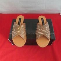 Steven New York Women's Girlish Studded Flat Sandals 89 Cognac - Us Size 7 1/2 Photo