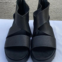 Steven Steve Madden Natural Comfort Sandals Black Size 8 New Photo