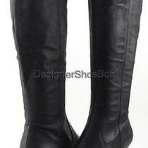 Steven Steve Madden Veta Black Leather Designer Pointed Toe Knee High Boots 6.5 Photo