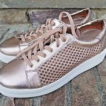 Steven Steve Madden Womens Nyssa Lace Up Sneaker Shoes Size 9.5 Rose Gold Blush Photo
