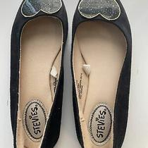 Stevies by Steve Madden Youth Girls Heart Flats Dress Shoes - Black - Us 2 Photo