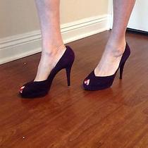 Stewart Weitzman Purple Suede Heels Photo