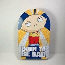Stewie Griffin Family Guy Metal Tin Case  Born to Be Bad  2012  8in Tall Photo