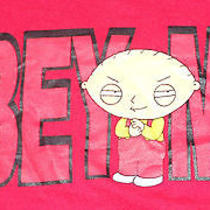 Stewie Griffin Obey Me T-Shirt Family Guy Cartoon Evil Baby Fox Tv Licensed S Photo