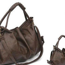Stock Ladies Purse Hobo Womens Pu Leather Handbag Vintage Retro Messenger Coffee Photo