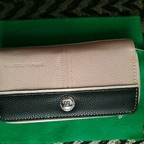Stone Mountain Zippered Clutch Wallet Leather Pink Blush Black Beige Photo