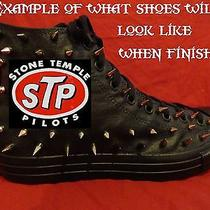 Stone Temple Pilots Grunge Custom Studded Converse Shirt Sneakers Shoes W Spikes Photo