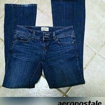 Stone Wash Aeropostale Jeans Distress Designer Grunge Hipster Jeans Photo