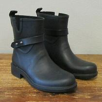 Storm Cougar Wallace Black Rubber Waterproof Rain Boots Mid Womens 6 Photo