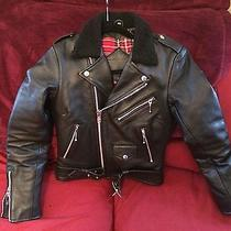 Straight to Hell Lady's Wool Commando / Black Leather Jacket / Chrome / Xs Photo