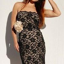 Strapless Lace Formal Maternity Dress Photo
