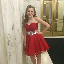 Strapless Prom/homecoming Short Red Dress by Blush From Prom Girl Size 6 Photo