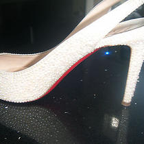 Strassed Entirely in Pearls Christian Louboutin Wedding Shoes Size 37.5  Photo