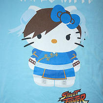 Street Fighter Hello Kitty Sanrio T-Shirt Nwt - M Photo