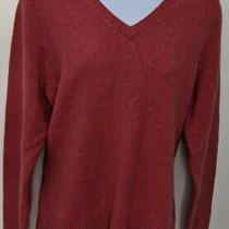 Stretch Gap Womens Coral Lambs Wool Blend Sweater Size Large Photo