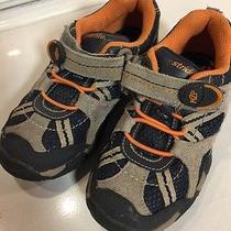 Stride Rite Boys Griffin Shoes Sneakers 10 1/2 M 10.5 Blue Orange Photo