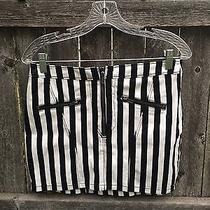Striped Mini Skirt Size 10 h&m Photo