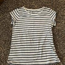 Striped Shirt Short Sleeve Girls Photo