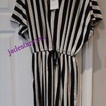 Striped Zara Dress Small S 8 10 Oversized Black White New Long Photo