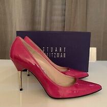 Stuart Weirzman Daisy Hibiscus Patent Heel Sz 7.5m Nib Photo