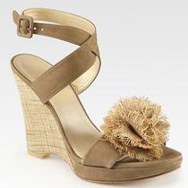 Stuart Weitzman Belflor Espadrille Wedge Sandals Size 6.5 Ankle Strap New 385 Photo