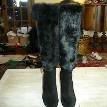 Stuart Weitzman Black Designer Knee Boots 6.5 M Photo