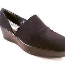 Stuart Weitzman Black Fabric Wedge Platform Heels Size 9m Photo