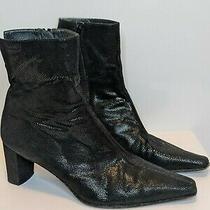 Stuart Weitzman Black Heel Ankle Boots 10 Photo