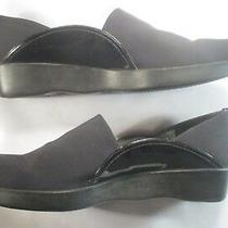Stuart Weitzman Black Micro Stretch Black Patent Accents Wedge Heel 8 1/2m Photo