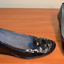 Stuart Weitzman Black Patent Leather Wedges Heels Size 38.5 8 8.5  Photo