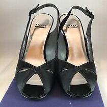 Stuart Weitzman Black Silk Sandals Size 7.5 M Photo