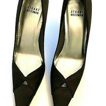 Stuart Weitzman Black Stiletto Heel Evening Shoes 7 1/2m Photo