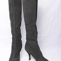 Stuart Weitzman Black Stretch Suede Knee High Boots 9.5m 118 B 315 Photo