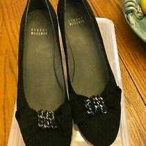 Stuart Weitzman Black Suede 9 N Womens Wedge Heel Shoes - Euc Photo