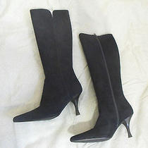 Stuart Weitzman Bonjour Navy Suede 7 M Women's Boots Photo