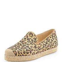 Stuart Weitzman Caramel Leopard Catalan Espadrille Flats Shoes 8 1/2 Photo