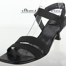 Stuart Weitzman Casual Black Fabric/leather Strappy Sandals Shoes Sz. 9.5 M Photo